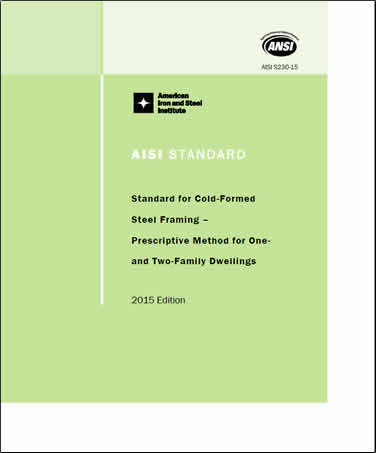aisi cold formed steel design manual