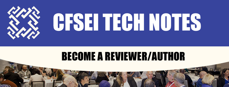 2020 CFSEI TECH NOTES | BECOME A REVIEWER/AUTHOR