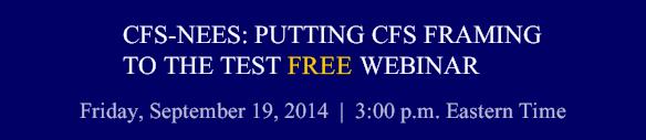 CFS-NEES: PUTTING CFS FRAMING TO THE TEST WEBINAR