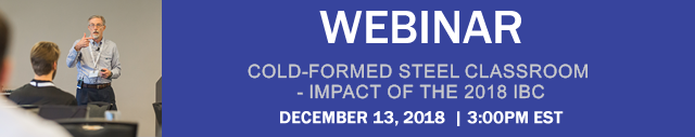 Cold-Formed Steel Classroom – Impact of the 2018 IBC Webinar